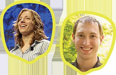 Jen Lampton and Nate Haug